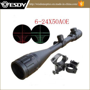 Esdy Tactical 6-24X50 Aoe Red & Green Illuminated DOT Riflescope pictures & photos