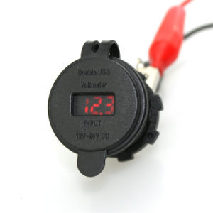 Motorbike Marine Dual USB Voltmeter Power Socket Plug Charger pictures & photos