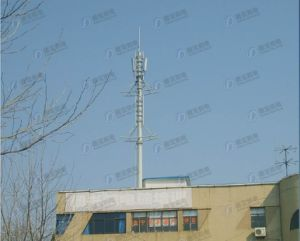 Roof Top Telecom Lattice Steel Tower pictures & photos
