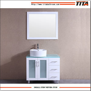 White Lacquer Glass Vanity Top Bathroom Vanity T9140-36wr pictures & photos
