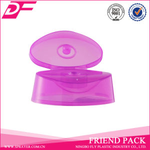 Plastic Purple Flip Top Cap for Body Soap Liquid Bottle