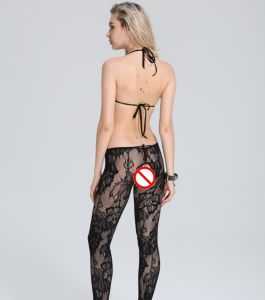Ladies Halter Neck Sexy Intimates Bodystocking with Backless Design pictures & photos