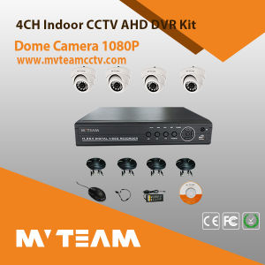 Factory Wholesale The Cheappest 4CH Ahd DVR Kit Security Dome Camera with Indoor Video Camera pictures & photos