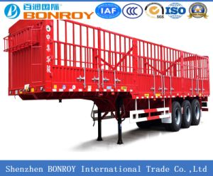 3 Axle Stake Semi-Trailer with Goose Neck pictures & photos