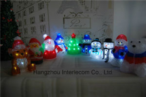 Acrylic Christmas Decorations Light with LED Christmas Wood Light pictures & photos