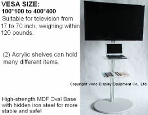 Exhibition TV Stand Portable Display Products with Acrylic Shelf pictures & photos