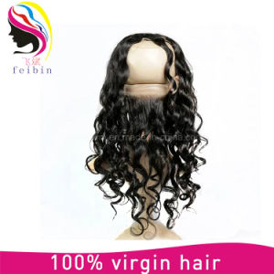 Fashion Virgin Remy Brazilian Human Hair 13*4*2 360 Lace Band Frontal Closure pictures & photos