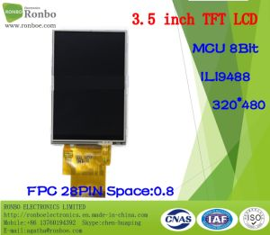 "3.5"" 320X480 MCU 8bit 28pin TFT LCD Display, Option Touch Screen pictures & photos"