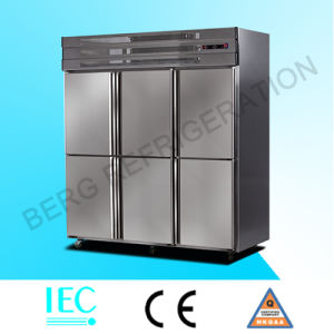 Kitchen Freezer Stainless Steel Freezer Refrigerator with Ce pictures & photos