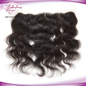 100% Virgin Hair Body Wave Brazilian 13X4 Lace Frontal Closure pictures & photos