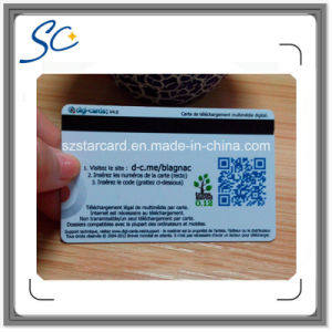 PVC Magnetic Stripe Card with Qr Code