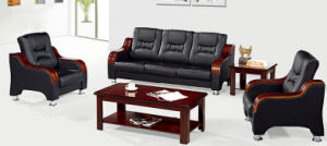 Italy Design Classic Wooden Office Furniture Leather Office Sofa (NS-SC37) pictures & photos