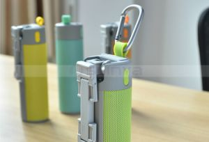 Multifunction Portable Outdoor Sport Wiressless Speakes Aux TF Self-Timer Bluetooth Speaker with 2000mAh Power Bank Holder pictures & photos