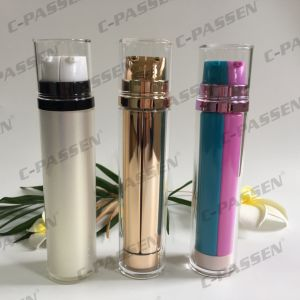 Double Pump Acrylic Airless Bottle for Cosmetic Packaging (PPC-AAB-038) pictures & photos
