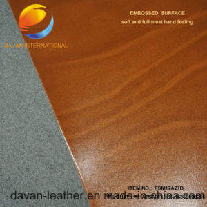 Nice Pattern Artificial Leather for Shoe DC Backing pictures & photos