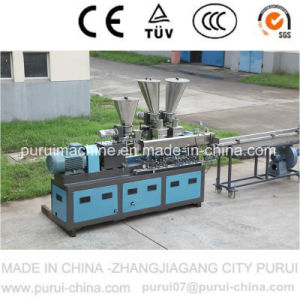 Lab Plastic Polymer Compounding Parallel Co-Rotating Twin Screw Extruder pictures & photos
