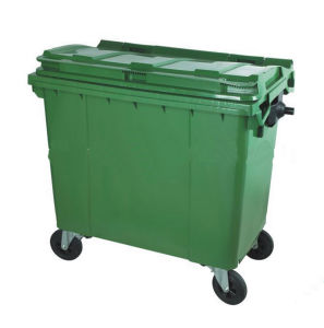 Best Price Sale Large Outdoor Industrial Plastic 660 Liter Garbage Bin pictures & photos