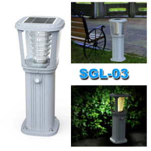 New Resin Portable Solar Lamp for Garden Lighting with Rechargeable Battery pictures & photos