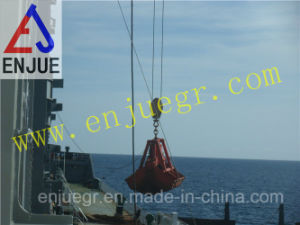 Single Rope Motor Hydraulic Grab for Deck Crane Clamshell Grab for Iron Ore pictures & photos