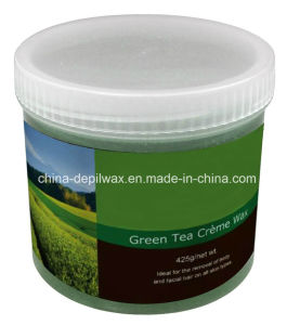 425g Jar Soft Depilatory Wax Green Tea Cream Wax pictures & photos