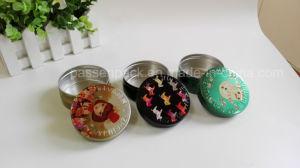 Custom Printed Aluminum Cosmetic Cream Jar with Embossed Lid pictures & photos