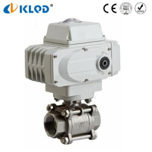 Valve Factory Electric Medium Flow Control Hot Water Ball Valve pictures & photos