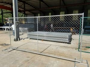 Galvanized Chain Link Fence Panel with Cross Brace pictures & photos
