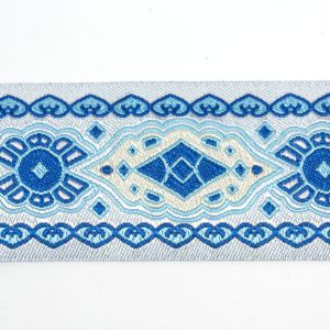 The Baroque Style Polyester Woven Labels for Garments and Bags pictures & photos