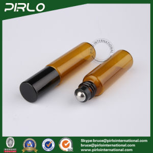 5ml Amber Color Essential Oil Roll on Bottle with Stainless Steel Roller pictures & photos