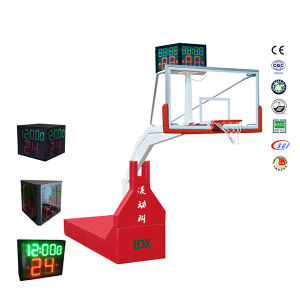 Professional Official Electric Hydraulic Indoor Portable Basketball Stand for Club pictures & photos