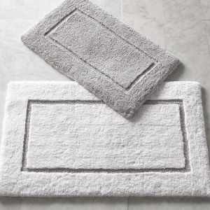 High-Low Border Design Cut and Loop Microfiber Non-Slip Bath Mat pictures & photos