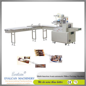 Semi-Automatic Protein Bars Horizontal Packing Machine pictures & photos