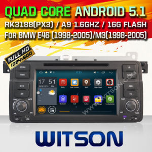 Witson Android 5.1 Car DVD for BMW E46 (1998-2005) (W2-F9756B) pictures & photos