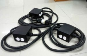 Electrical Junction Metal Box with Edison Outlet with Power Cable pictures & photos