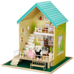 New Arrivals Kid Miniature Wooden Fancy Toy DIY Doll House pictures & photos