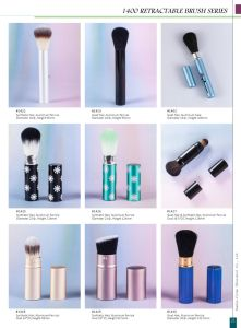 1400 Series Retractable Makeup Cosmetic Brushes pictures & photos