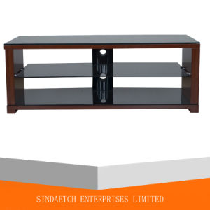 Morden MDF with Glass TV Stand for Home Furniture pictures & photos
