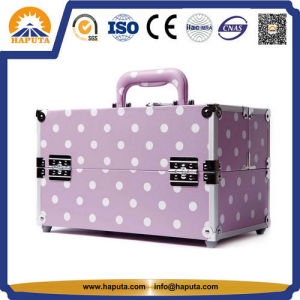 PU Leather Travel Makeup Case Luggage Attached Case (HB-6301) pictures & photos