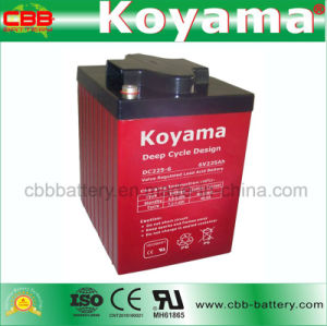 6V 225ah Deep Cycle Battery for Boat/Sweeper / Golf Cart pictures & photos