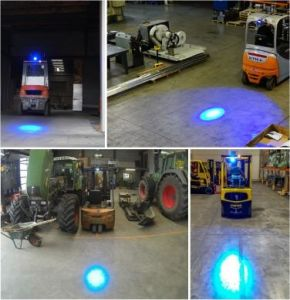 Blue or Red Oval LED Spot Light Forklift Warning Light pictures & photos