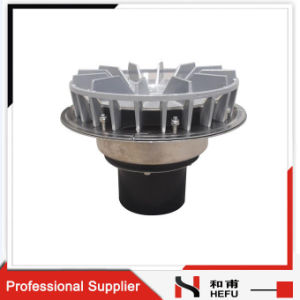 New Design Sizing Flat Roof Commercial Metal Strainer Drainage Overflow Roof Drain with Cover pictures & photos
