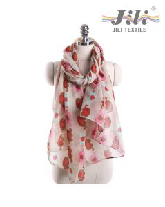Latest Design New Fashion Voile Animal Elephant Printed Long Winter Scarf for Lady pictures & photos