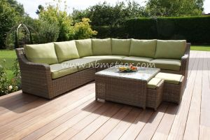 New Design PE Rattan & Aluminum Garden Furniture, Outdoor Rattan Sofa pictures & photos