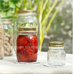 Carving Flower Honey Jam Glass Jar 150ml----1000ml pictures & photos