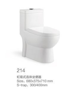 214 Siphonic One-Piece Toilet New Model pictures & photos