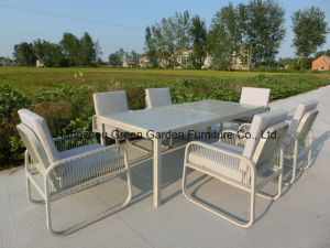 Sail Rope Weave Dining Set with Table Sofa Chair Garden furniture pictures & photos