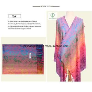 New Design Nepal Style Leaf Pashmina Shawl Fashion Lady Scarf pictures & photos