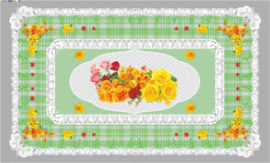90*145cm Hot Popular PVC Printed Transparent Tablecloth of Independent Design (full color) pictures & photos