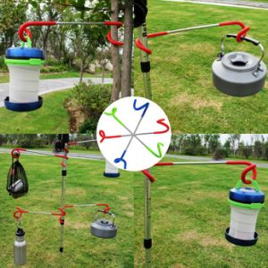 Outdoor Camping Metal Hook Lamp Hanger Double S Pole pictures & photos
