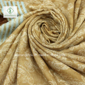 Combination Dyeing Verticalbar Cashew Printed with Tassels Fashion Scarf pictures & photos